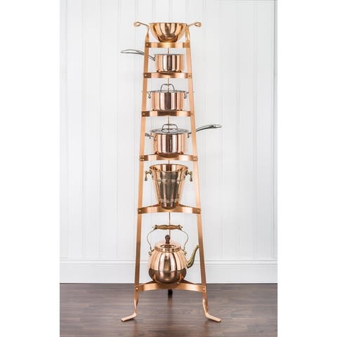 """60.5"""" Steel Cookware Stand w/ 6 Shelves and Your Choice of Finish"""