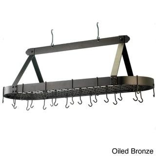 Oval 24-hook Grid Hanging Pot Rack