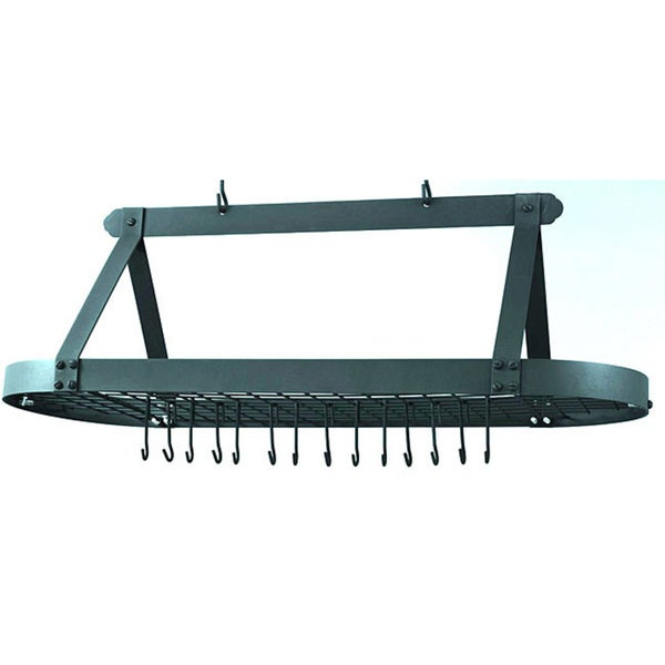 Oval 24-hook Grid Hanging Pot Rack
