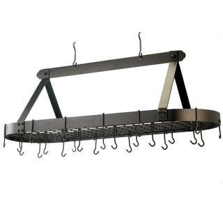 Old Dutch Oval Hanging Pot Rack with Grid & 24 Hooks|https://ak1.ostkcdn.com/images/products/3707493/P11768474.jpg?impolicy=medium