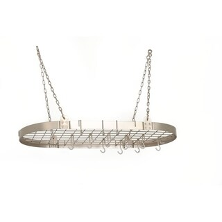 Steel Oval 12-hook Pot Rack (3 options available)