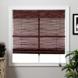 Arlo Blinds Rangoon Bamboo 74-inch Long Roman Shade