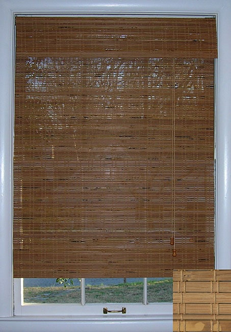 Arlo Blinds Tuscan Bamboo Roman Shade (46 in. x 74 in.)