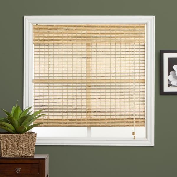 Petite Rustique Bamboo 74-inch Long Roman Shade