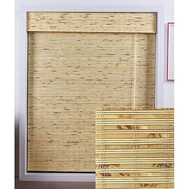Petite Rustique Bamboo Roman Shade (30 in. x 98 in.)