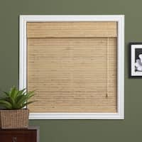 Arlo Blinds Petite Rustique Bamboo Roman Shade with 98 Inch Height - 63 w x 98 h inches