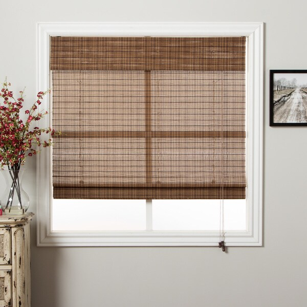 Arlo Blinds Tibetan Bamboo 98-inch Long Roman Shade