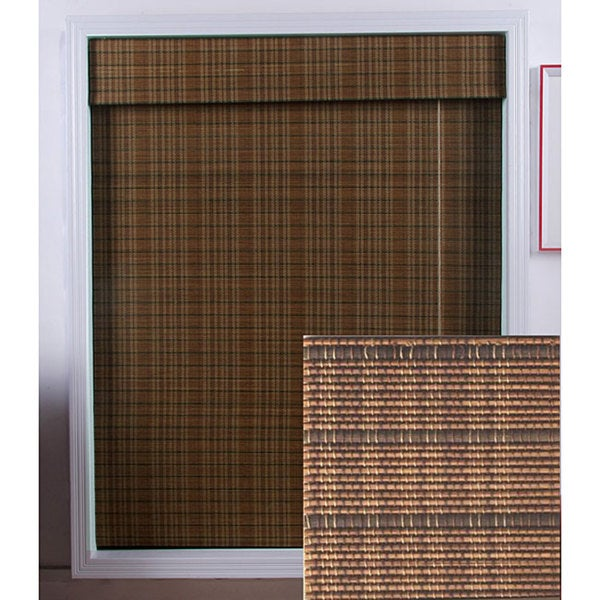 Arlo Blinds Tibetan Bamboo Roman Shade (34 in. x 98 in.)