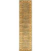Safavieh Handmade Heritage Timeless Traditional Blue/ Beige Wool Runner Rug - 2'3 x 10'
