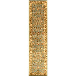 Safavieh Handmade Heritage Timeless Traditional Blue/ Beige Wool Runner (2'3 x 14')