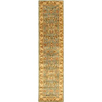 "Safavieh Handmade Heritage Timeless Traditional Blue/ Beige Wool Runner - 2'3"" x 14'"