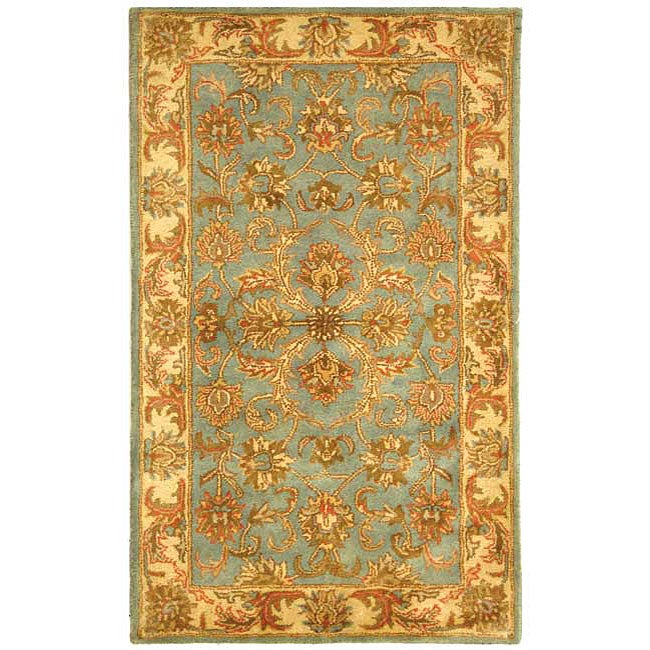 Safavieh Handmade Heritage Timeless Traditional Blue/ Beige Wool Rug (3' x 5') - Thumbnail 0