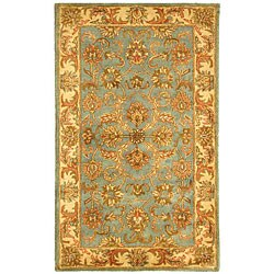 Safavieh Handmade Heritage Timeless Traditional Blue/ Beige Wool Rug (3' x 5')