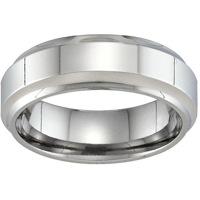 Unisex Titanium Beveled Band (7 mm)