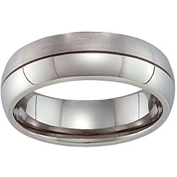 Unisex Titanium Grooved Band (More options available)