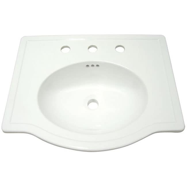 Londonville Surface-mount China Sink Bowl