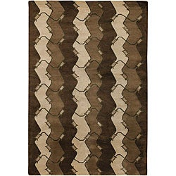 Artist's Loom Hand-knotted Contemporary Abstract Wool Rug (7'9x10'6) - Thumbnail 0