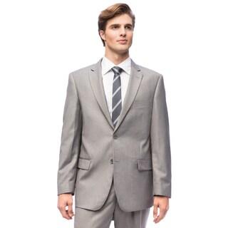 Men's Solid Grey 2-button Suit
