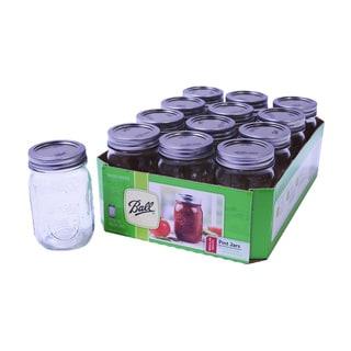 Ball 16-ounce/ Pint Mason Jars (Set of 12)