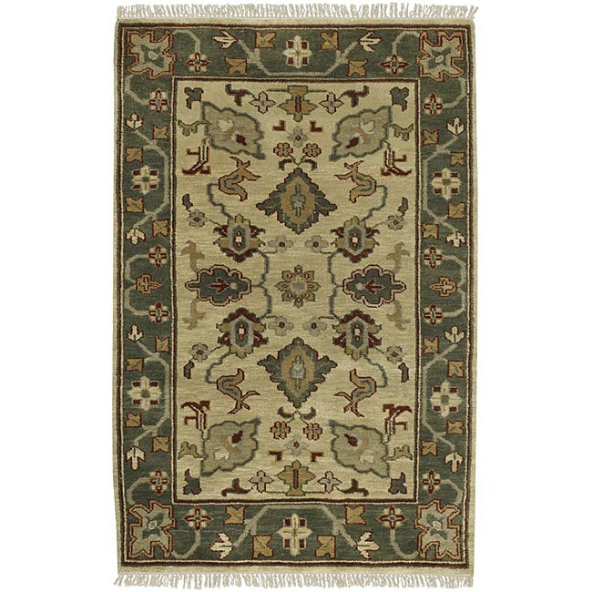 Hand-knotted Southwestern Park Avenue Wool Rug (2'6 x 8') with Free Rug Pad