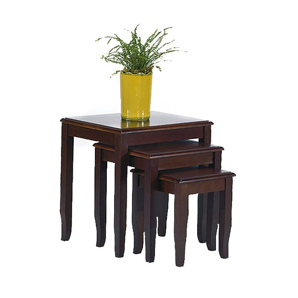 Office Star Merlot 3-piece Nesting Table Set