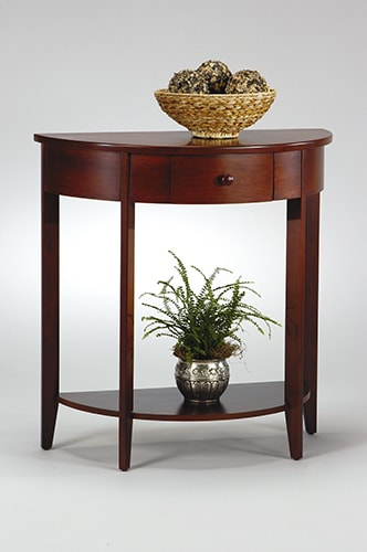 Office Star Madison Hall Walnut Console - Thumbnail 1