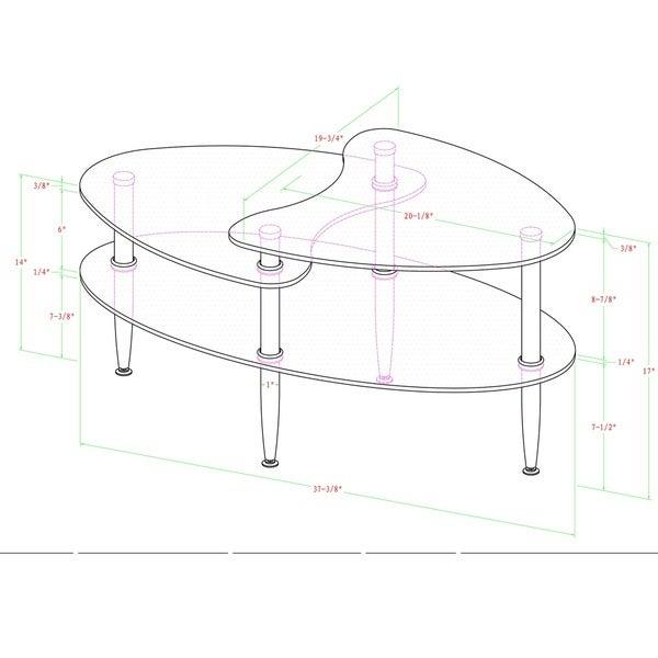 Oval Coffee Table With Frosted Glass   Free Shipping Today   Overstock.com    11781369