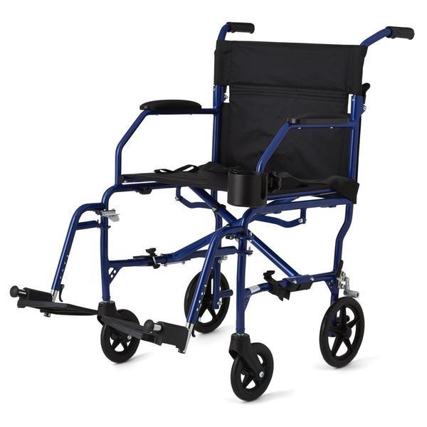 medline super lightweight transport chair free shipping today overstock 11776389. Black Bedroom Furniture Sets. Home Design Ideas