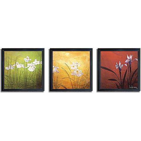 Don Li-Leger 'Karma' Framed 3-piece Art Set