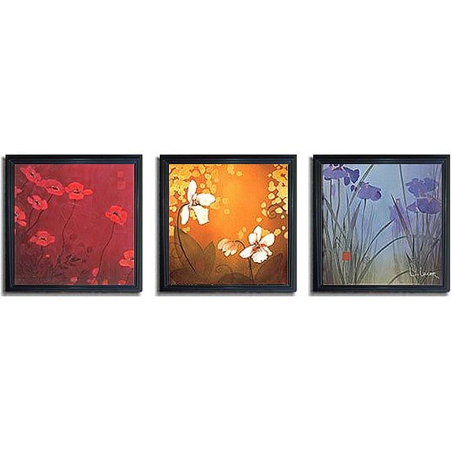 Don Li-Leger 'Aura' Framed 3-piece Art Set