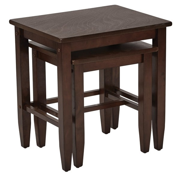 OSP Home Furnishings Expresso 2-piece Nesting Table Set