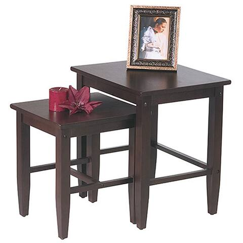Office Star Expresso 2 Piece Nesting Table Set Espresso