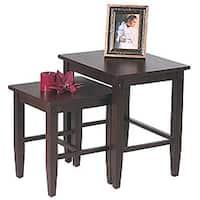 Office Star Expresso 2-piece Nesting Table Set - Espresso