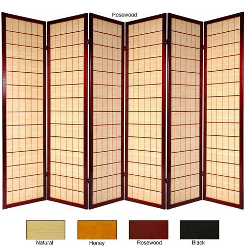Handmade Wooden Kimura 6-panel Room Divider