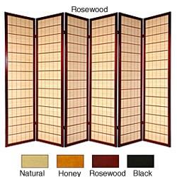 Handmade Wooden Kimura 6-panel Room Divider (China)