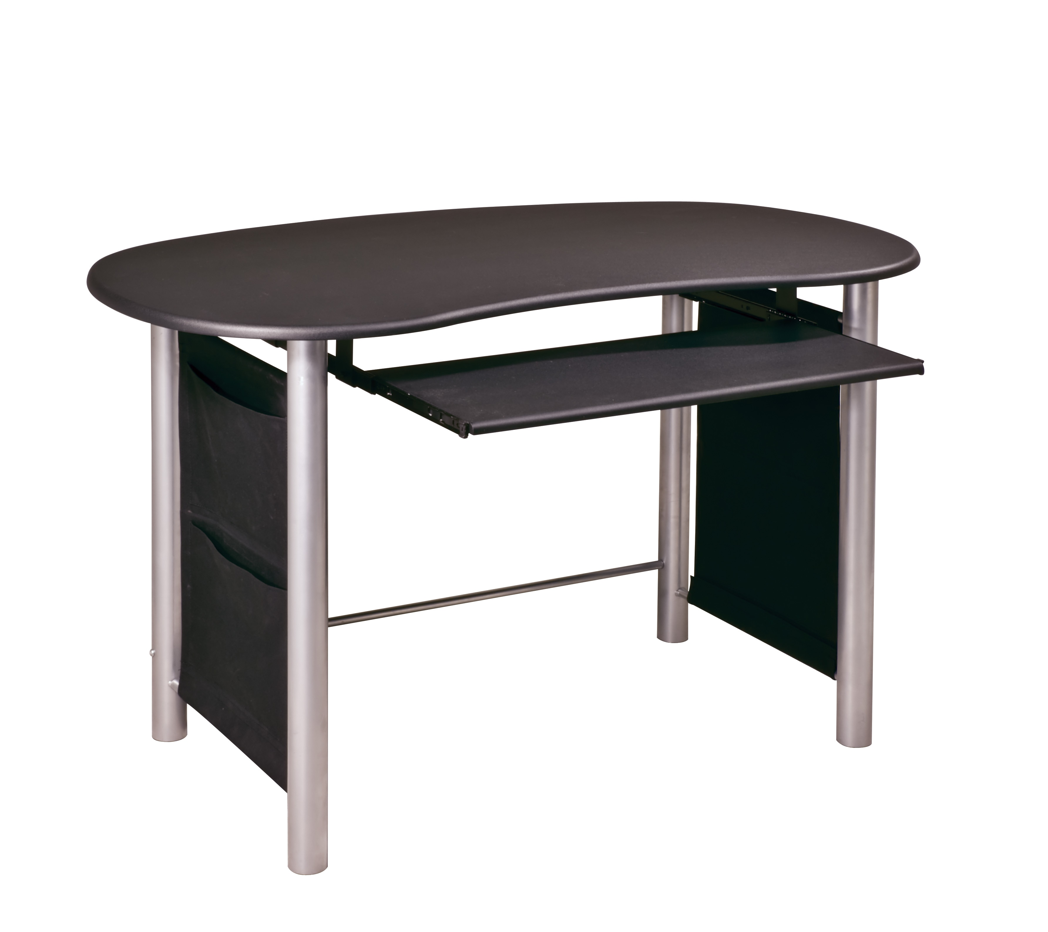 b1b248ac6a0 Shop Office Star Saturn Multi-Media Black with Silver Accents Computer Desk  - Free Shipping Today - Overstock - 3725532