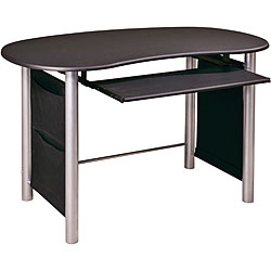 Office Star Black/ Silver Mixed Media Workstation Desk