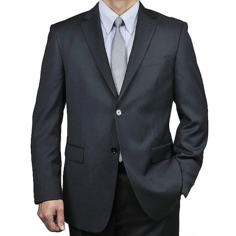Men's Black Wool 2-button Suit