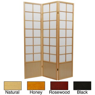 Handmade Wood and Rice Paper 6-foot 5-panel Zen Room Divider (China) (More options available)