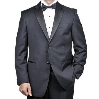 Men's Black Wool 2-button Tuxedo (Option: 42l)