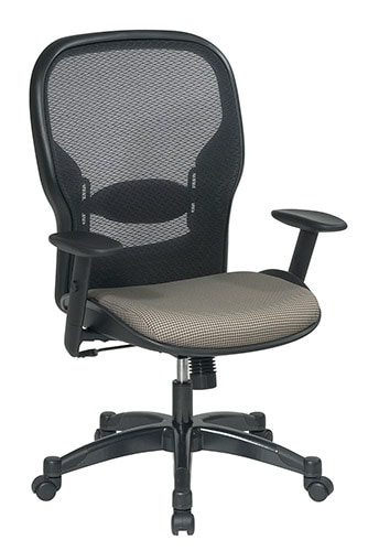 Office Star Space Series Air Grid Backed Tan Fabric Seat Chair - Thumbnail 1