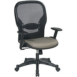 Office Star Space Series Air Grid Backed Tan Fabric Seat Chair
