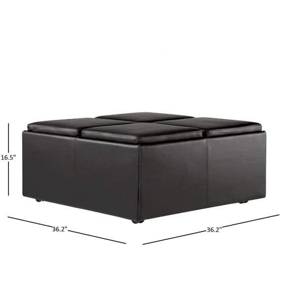 Magnificent Shop Montrose Faux Dark Brown Leather Multipurpose Storage Inzonedesignstudio Interior Chair Design Inzonedesignstudiocom