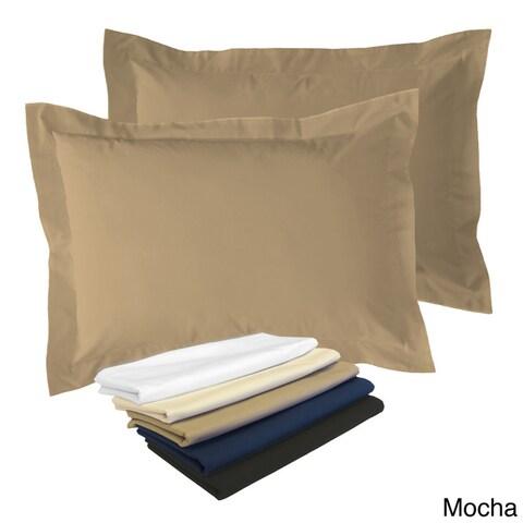 Cotton Blend Poplin Tailored Decorative Pillow Shams (Pack of 2)