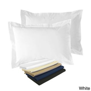 Cotton Blend Poplin Tailored Decorative Pillow Shams (Pack of 2) (More options available)