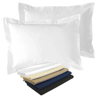 Cotton Blend Poplin Tailored Decorative Pillow Shams (Pack of 2)