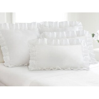 Ruffled Lauren Eyelet Cotton Blend Pillow Shams (Pack of 2) (4 options available)