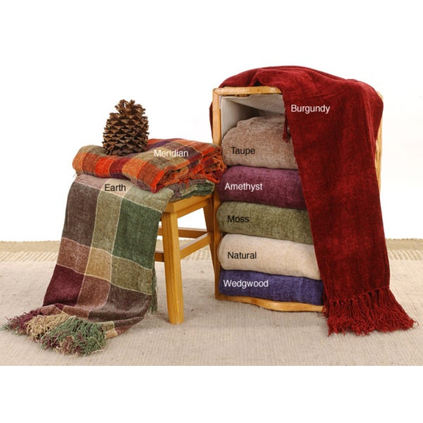 Rayon Chenille Throw