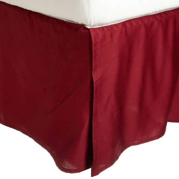 Superior 300 Thread Count Solid Cotton 15-inch Drop Bedskirt