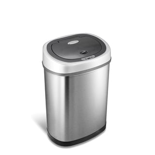 Stainless Steel 11.1 Gallon Motion Sensor Trash Can